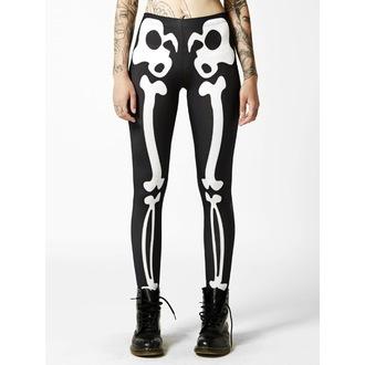 nohavice dámske (legíny) DISTURBIA - Bones - Black/White, DISTURBIA