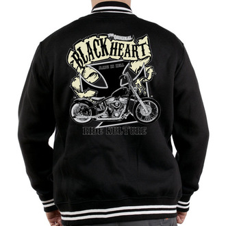 mikina pánska Baseball BLACK HEART - Motorcycle K., BLACK HEART