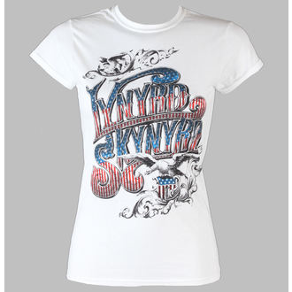 tričko dámske Lynyrd Skynyrd - Usa Flag Logo - LIVE NATION - White, LIVE NATION, Lynyrd Skynyrd