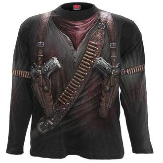 tričko pánske s dlhým rukávom SPIRAL - HOLSTER WRAP - BLK, SPIRAL