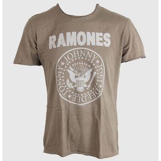 tričko pánske Ramones - Logo - AMPLIFIED - Khaki, AMPLIFIED, Ramones