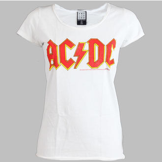 tričko dámske AC/DC - Logo - AMPLIFIED - White, AMPLIFIED, AC-DC