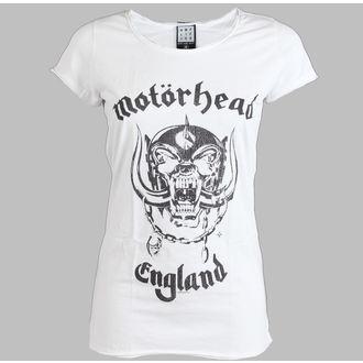 tričko dámske Motörhead - England - AMPLIFIED - White, AMPLIFIED, Motörhead