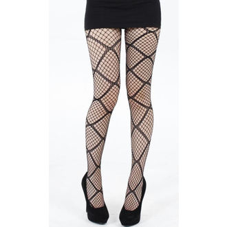 pančucháče PAMELA MANN - Large Diamond Net Tights - Black