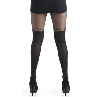 pančucháče PAMELA MANN - Over The Knee Hearts Tights - Black