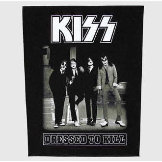 nášivka veľká Kiss - Dressed To Kill - RAZAMATAZ, RAZAMATAZ, Kiss