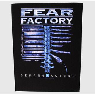nášivka veľká Fear Factory - Demanufacture - RAZAMATAZ, RAZAMATAZ, Fear Factory
