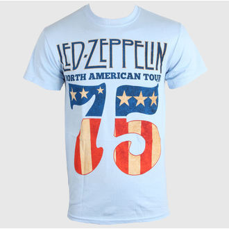 tričko pánske LED ZEPPELIN - US 75 - SKY BLUE - LIVE NATION, LIVE NATION, Led Zeppelin