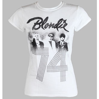 tričko dámske BLONDIE - SINCE 74 Fitted - WHITE - LIVE NATION