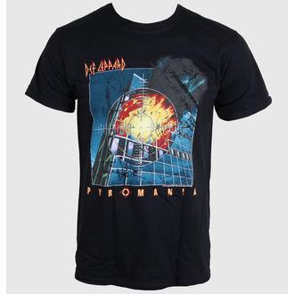 tričko pánske DEF LEPPARD - Pyromania - BLACK - LIVE NATION, LIVE NATION, Def Leppard