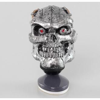 dekorácia (hlavica radiacou páky) LETHAL THREAT - Cyborg Skull Shift Knob / Dash Topper, LETHAL THREAT