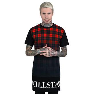 tričko unisex (tunika) KILLSTAR - Tartan - Black