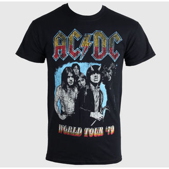 tričko pánske AC/DC - WORLD TOUR 79 T- BLACK - LIVE NATION, LIVE NATION, AC-DC