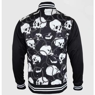 bunda pánska jarno/jesenná SIX BUNNIES - Skull & Chains - Black, LIQUOR BRAND