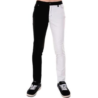 nohavice pánske 3RDAND56th - Split Leg Skinny - Blk/Wht, 3RDAND56th