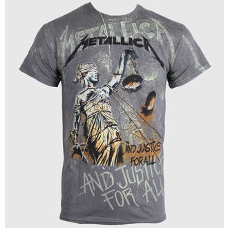 tričko pánske Metallica - Justice Neon All - Over Premium - LIVE NATION - PEMTL0990