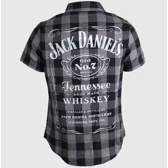 košele pánska Jack Daniels - Checks - Black/Grey, JACK DANIELS
