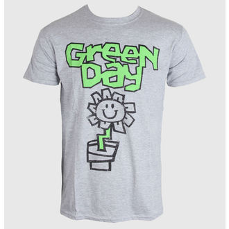 tričko pánske Green Day - Flower Pot - Grey - ROCK OFF, ROCK OFF, Green Day