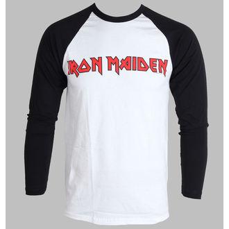 tričko pánske s dlhým rukávom Iron Maiden - Logo - ROCK OFF, ROCK OFF, Iron Maiden