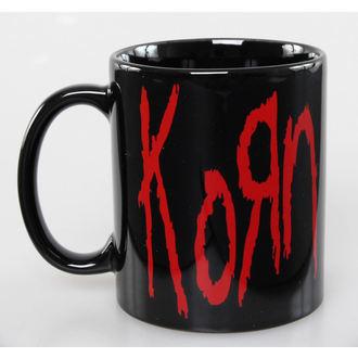 hrnček Korn - Logo - ROCK OFF, ROCK OFF, Korn