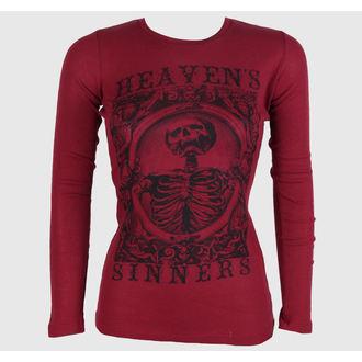 tričko dámske s dlhým rukávom SE7EN DEADLY - Heaven Sinners Red, SE7EN DEADLY