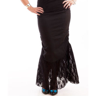 sukňa dámska NECESSARY EVIL - Nepthys Lace and Twill Fishtail - Black, NECESSARY EVIL