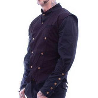 vesta pánska NECESSARY EVIL - Chronus Mens Steampunk - Black, NECESSARY EVIL