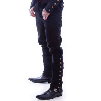 nohavice NECESSARY EVIL - Chronus Mens Adjustable Steampunk - Black, NECESSARY EVIL