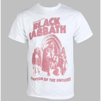 tričko pánske Black Sabbath - Symptóm Of The Universe - White - BRAVADO, BRAVADO, Black Sabbath