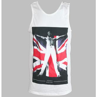 tielko pánske Freddie Mercury - Flag - White - BRAVADO, BRAVADO, Queen