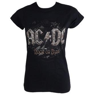 tričko dámske AC/DC - Rock Or Bust - Black - LIVE NATION, LIVE NATION, AC-DC