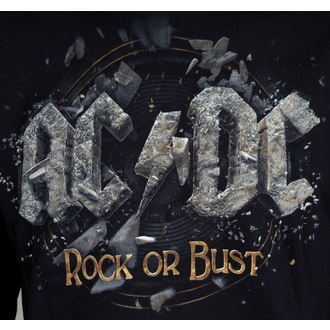 mikina pánska AC/DC - Rock Or Bust - Black - LIVE NATION, LIVE NATION, AC-DC