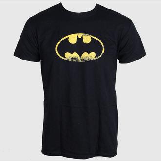 tričko pánske Batman - Distressed Logo - Black - LIVE NATION, LIVE NATION