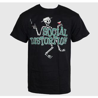 tričko pánske Social Distortion - Letterman Skully - BRAVADO - SCD1019