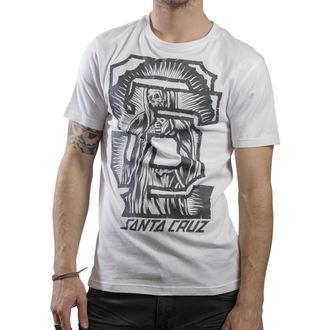 tričko pánske SANTA CRUZ - Guad Block - White, SANTA CRUZ
