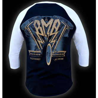 tričko pánske s 3/4 rukávom BLACK MARKET - Ian McNiel - American Iron Baseball, BLACK MARKET