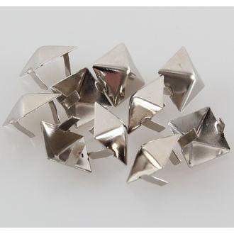 pyramídy kovové - 10ks, BLACK & METAL