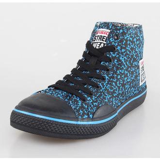 topánky pánske VISION - Canvas HI - Blue / Black Stipple, VISION