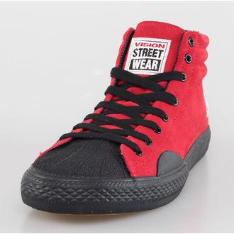 topánky pánske VISION - Suede HI - Red / Black, VISION