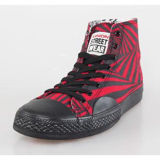 topánky pánske VISION - Canvas HI - Red / Black Hypno, VISION