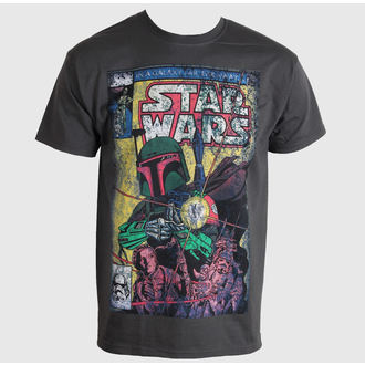 tričko pánske STAR WARS - Boba Blast Fotl - Charcoal - LIVE NATION