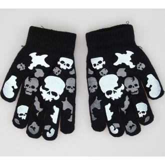 rukavice Skull - Black/White