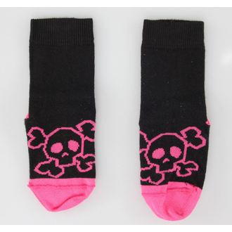 ponožky detské LEATHER HEAVEN - Pink Skull
