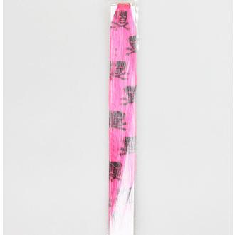 clip (príčesok) Black Skull - Pink