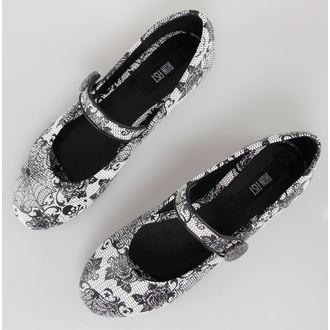 topánky dámske (balerínky) IRON FIST - Midnight Widow - White, IRON FIST
