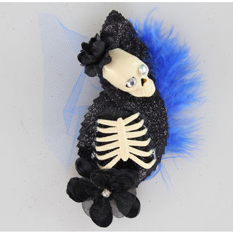 sponka do vlasov Skeleton Blue / Black