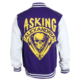 mikina pánska Asking Alexandria - Skull Shield - Purple - PLASTIC HEAD, PLASTIC HEAD, Asking Alexandria