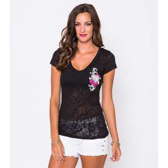tričko dámske METAL MULISHA - Flowers Burnout, METAL MULISHA