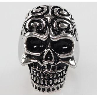 prsteň Skull