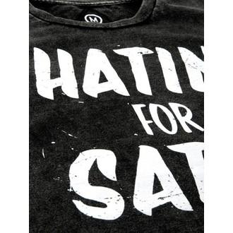 tričko pánske DISTURBIA - Hatin - Grey / BLK, DISTURBIA